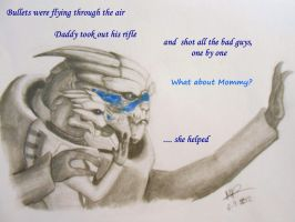 Story Time with Garrus by BldyScarlet