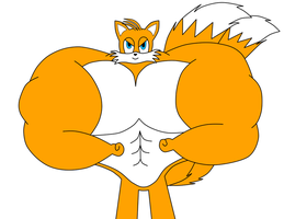 Art Trade: Tails Gets Buff by NitroactiveStudios