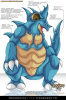 Pokedex 031 - Nidoqueen FR by Pokemon-FR