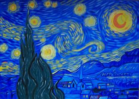 STARRY NIGHT-VAN GOGH TRIBUTE by wwwEAMONREILLYdotCOM