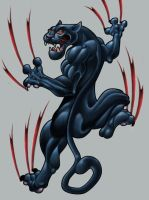 panther drawing by michaelbrito
