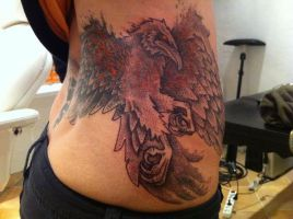 Firebird aka raven by Meatshop-Tattoo