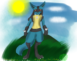 Blue pose by Fangy-From-Shadow