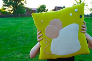 Critter Pillow - Mouse by someweirdcrab