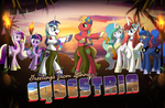 Greetings from Sunny Equestria by drawponies