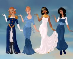 Non/Disney Goddesses - A4 by M-Mannering