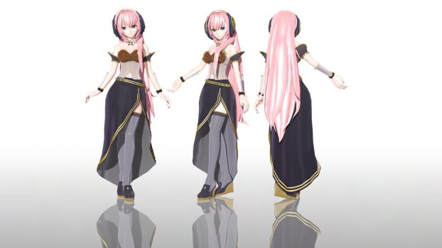PDAFT Megurine Luka V4x -MODEL DOWNLOAD- by MegurineSempai