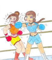 Boxing - Katara vs Azula by Jose-Ramiro