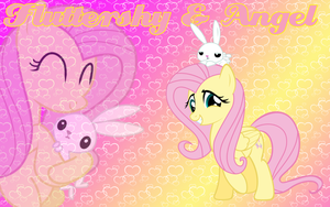 Fluttershy and Angel Wallpaper by Supremechaos918