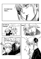 Let's play pocky game! pg.1 by Shigeruuu