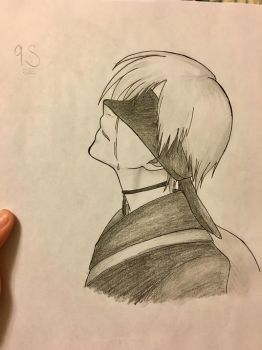 9S - Nier Automata Sketch by will-of-fire23