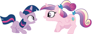 Twily and Cadance - Sunshine, Sunshine ~ by rainbowd28