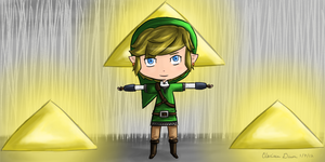 Link and the Triforce by ssbbgamergirl