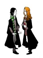 Snape and Evans by R-Stormcrow