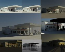 Lonely Gas Station WIP2 by GDSWorld