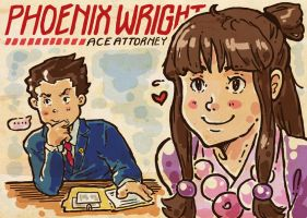 PW: Phoenix Wright Game On by Trillzey