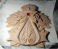 Ezio Brotherhood Insignia WIP3 by rabid-llama