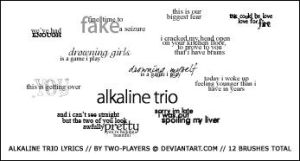Alkaline Trio Lyrics Brushes by Two-Players