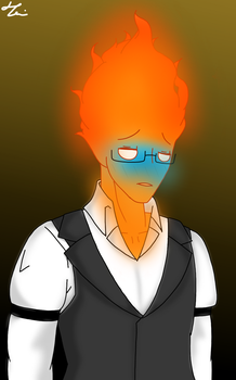 Shy Grillby by AngelsLoveU