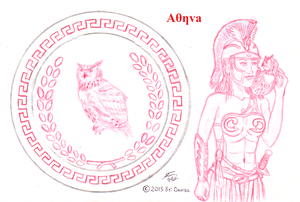 Sketch of Athena's Sheild