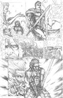 Something Evil page 13 pencils by RudyVasquez