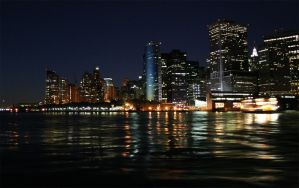 New York Skyline Gradient by lanosic