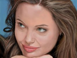 Angelina Jolie- speed painting by wakdor