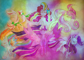 Let The Rainbow Remind You by DarkestSunset