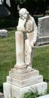 Mount Olivet Cemetery Woman 197 by Falln-Stock