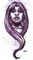 Purple Haired Girl 2 by JasonGoad