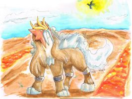 The Entei by UmbreoNoctie