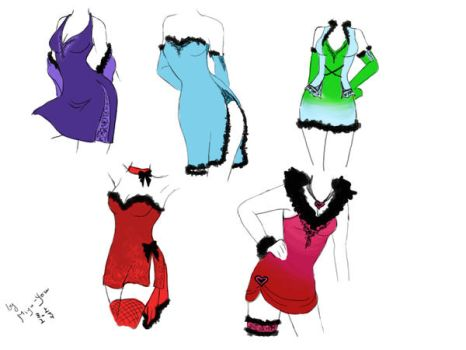 Dress Designs 1 by Miyu-Yoru