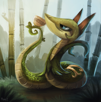 DAY 151. Serperior (30 Minutes) by Cryptid-Creations
