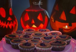 Pumpkin, chocolate muffins and Halloween by Piroshki-Photography