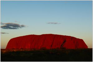 Uluru glows by wildplaces