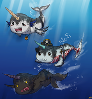 Narwals- Narwals Swimming in the. . .  Lake? by ay4u