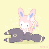 sylveon x umbreon by kokyuuri