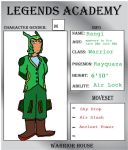 Legends Academy App  Warrior: Rangi by babyangel7155