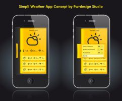Simpli Weather Project 2 by PwrdesignStudio