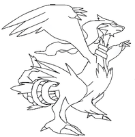 reshiram template+lineart by shadowxmephiles