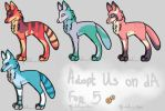 Adoptable Wolves by MaddiiMayyhemm