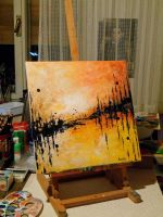 Abstract painting by Cleicha