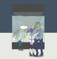 Cuttlefish Aquarium - Turian Family + Collector by I-Anon