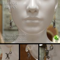 Free 3D MOdel: Black Cat Earrings by LuxXeon