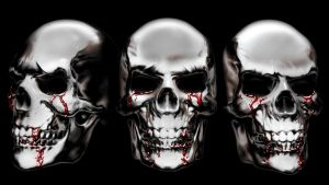 Chrome Skulls with Blood by Agent-Spiff