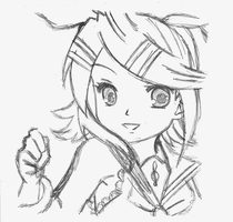 Sketch 1 - Rin Kagamine by IlzeProductions