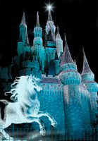 Castle Fantasy BKG 1 - teal by WDWParksGal-Stock