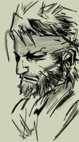 Metal Gear Solid PORTABLE OPS (Big Boss) by arthurfernandes