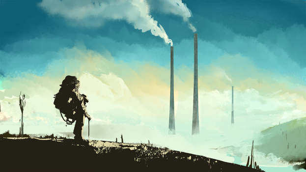 Daily Sketch #0127 - Back home! by GhostlyCarrot