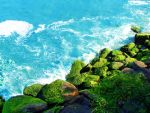Blue Water Over Rocks by think0